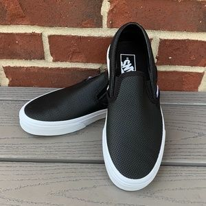Vans Classic Perforated Leather Slip Ons